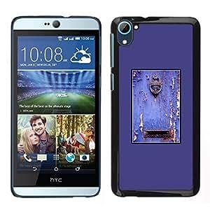 EJOY---Cubierta de la caja de protección para la piel dura ** HTC Desire D826 ** --Púrpura rústica puerta Buzón pintura descascarada