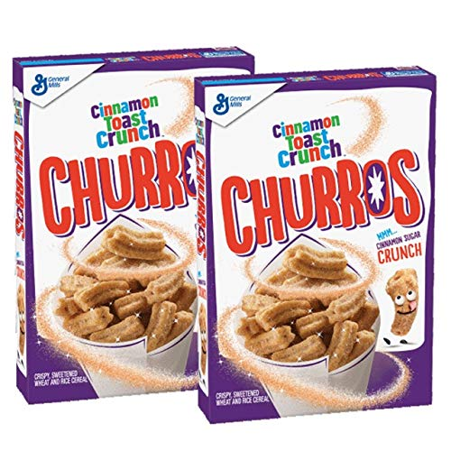 Cinnamon Toast Crunch Churros Breakfast Cereal 11.9 oz. (Pack of 2)
