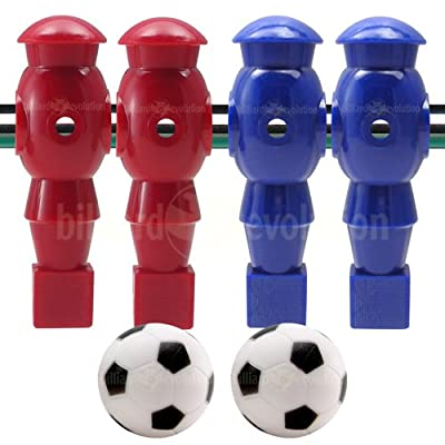 Billiard Evolution 4 Red and Blue Robotic Foosball Men and 2 Soccer Balls : Foosball Accessories : Sports & Outdoors