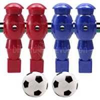 Billiard Evolution 4 Red and Blue Robotic Foosball Men and 2 Soccer Balls