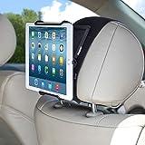 TFY Universal Car Headrest Mount Holder with Angle- Adjustable Holding Clamp for Tablet - iPad Mini / iPad Pro / iPad Air / Samsung Galaxy Tab S / S2 / S3 / Tab 4