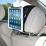 TFY Universal Car Headrest Mount Holder with Angle- Adjustable Holding Clamp for 6-12.9 Inch Tablets