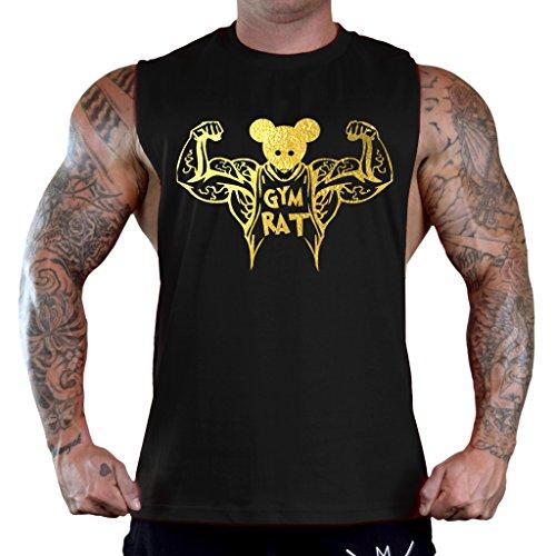 scle Flex Men's Black Sleeveless T-Shirt Tank Top 3X-Large Black ()