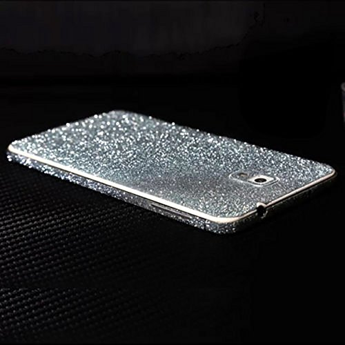 Ruilida Crystal Diamond Sparkling Body Bling Glitter Sticker Skin Film Case Screen Protector For Samsung Note 4 N9100 (Silver)