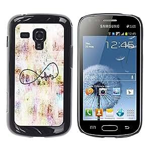 Be Good Phone Accessory // Dura Cáscara cubierta Protectora Caso Carcasa Funda de Protección para Samsung Galaxy S Duos S7562 // Quote Art Original Author