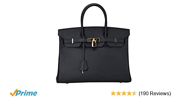 eafe773f896 Ainifeel Women s Genuine Leather Padlock Handbags With Gold Hardware   Handbags  Amazon.com