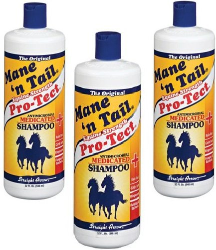 (3 Pack) Mane N Tail Pro-Tect Medicated Shampoo For Horse 32-Ounce Bottles by Straight Arrow
