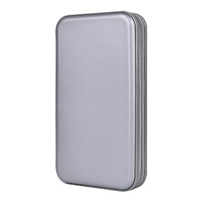 alavisxf xx CD Holder, 72 Capacity CD/DVD Case Holder Portable Wallet Storage Organizer Hard Plastic Protective Storage Holder for Car Travel(72 Capacity, Grey 72): Electronics