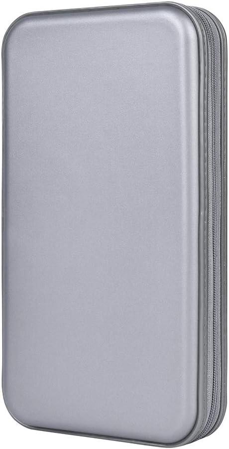 Organizador de Almacenamiento para CD/DVD de Alta Resistencia, plástico Flexible, Funda Protectora, Carpeta con Capacidad para 80: Amazon.es: Electrónica