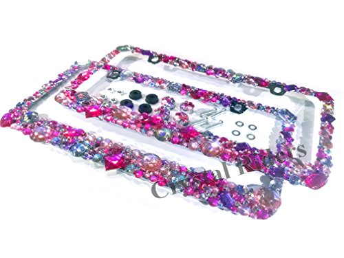 License Anti theft Crystals Iridescent Sparkly product image