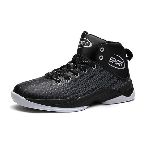 Hy Zapatillas Altas de Baloncesto para Hombre 2018 Primavera/Otoño Nuevas Zapatillas cómodas Zapatillas sin