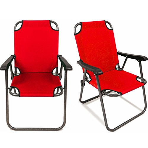 2 Red Outdoor Patio Folding Beach Chair Camping Chair Arm Lightweight Portable By Allgoodsdelight365 (Repair Patio Web Chair)