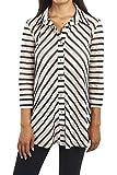 Joseph Ribkoff Button Front Striped Tunic Style 163920 Size 18