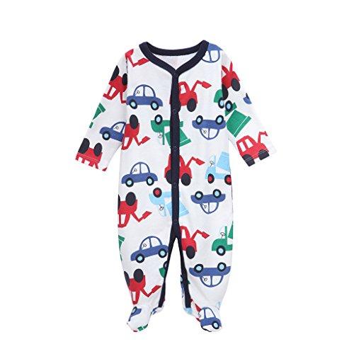 Babe Maps Unisex Baby Footie Pajamas Long Sleeve Sleep N Play