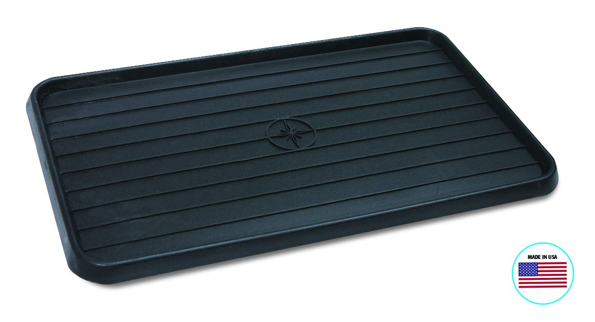 "WirthCo 40098 Multi-Use Mat Boot Tray - Black 15"" x 25"" x .75"""