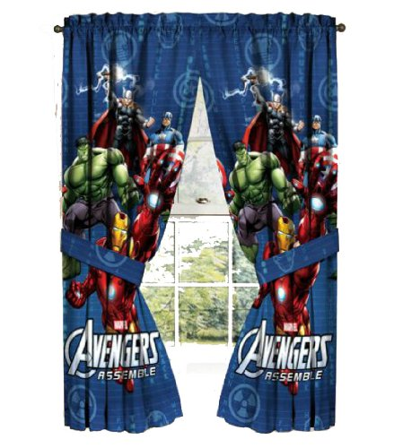 Avengers Gardine 208 x 160cm   Assemble | Kinderzimmer Vorhang