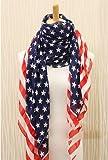 KMG Unisex Fashion Charming Patriot Patriotic US USA American star Flag Pattern Print Shawl Scarf Wrap Garden, Lawn, Supply, Maintenance