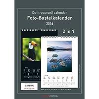 Foto-Bastelkalender 2016-2 in 1: schwarz und weiss - Bastelkalender: Do it yourself calendar A4 - datiert - Valentinstag-Kalender