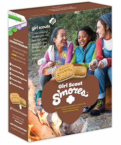 (Girl Scout Smores Cookies - Chocolate, Marshmallow Sandwiched in Graham Cookie)