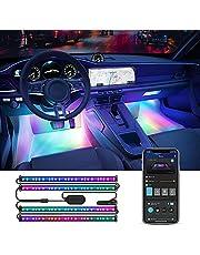 Govee Interior Car Lights, RGBIC Car Lights Car Atmosphere Lights with Smart APP Control 4pcs, Music Sync Mode, 30 Scene Options 16 Million Colors, DIY Mode, Car LED Strip Lights for Cars, SUVs