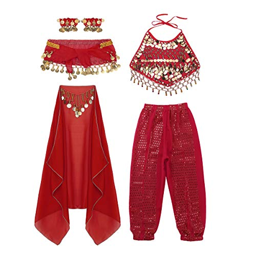 iEFiEL Girls Kids Belly Dance Top Pants Outfit