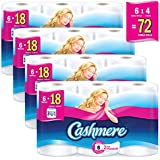 Cashmere Soft & Thick Toilet Paper, Hypoallergenic and Septic Safe, 6 Triple Rolls = 18 single Rolls, Case of 4 24 Rolls - 2