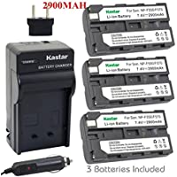 Kastar NP-F570 Battery (3-Pack) and Charger Kit for Sony L Series InfoLithium Battery NP-F570, NP-F550, NP-F530, NP-F330 and Sony DCRVX2100, HDRFX1, HD1000U, HVRZ1U, HXR-NX5U, NEX-FS100 Cameras