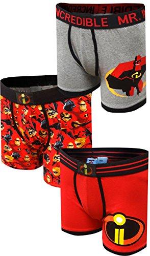 (Incredibles 2 Disney Pixar Mr Incredible 3 Pack Boxer Brief for Men (Large))