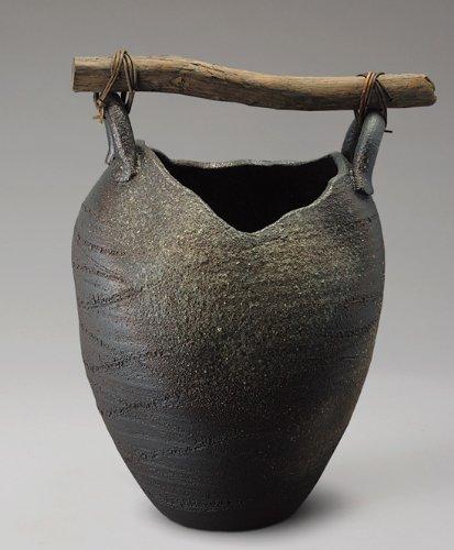 壺型流木傘立 信楽焼 陶器 傘立て B006IIIXMA