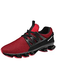 new photos 7afc1 bd9ad GOMNEAR Running Lightweight Shoes Mens Breathable Non-Slip Outdoor Lace-up  Sport Walking Sneakers