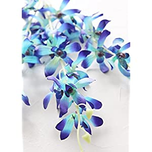 """Afloral Mini Dendrobium Orchid Spray in Blue - 39"""" Tall 18"""