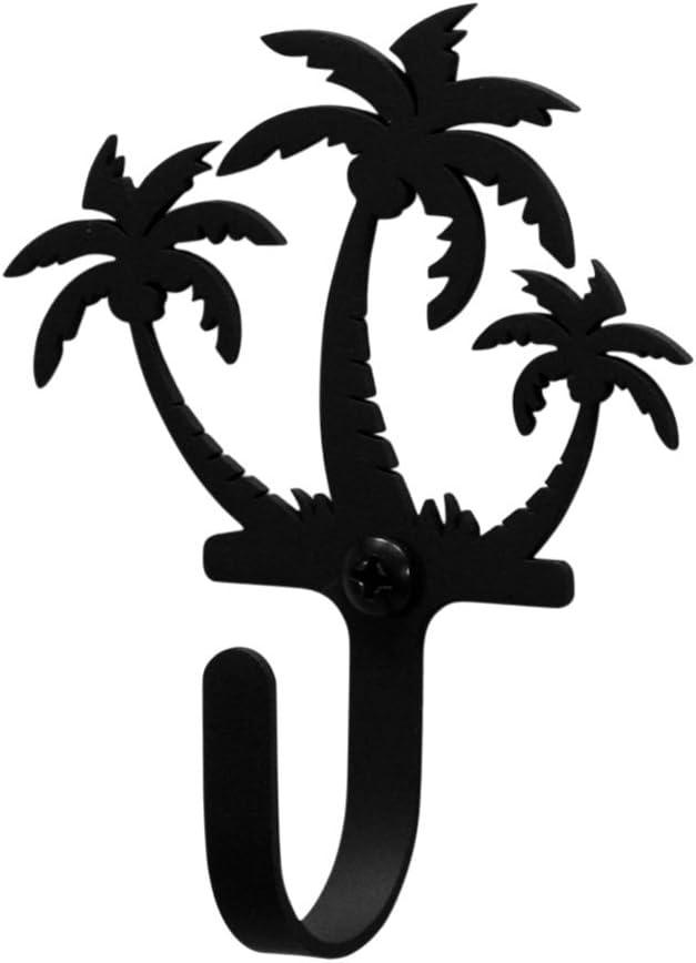 Iron Palm Trees Decorative Wall Hook Small - Heavy Duty Metal Wall Hook, Coat Hook, Door Hooks, Key Hooks, Wall Hangers, Jewelry Hooks