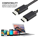 2 PACK USB C Power Cable, 1M + 2M USB C to USB C Cable Charger USB Type C Data Cord for MacBook Pro, Nexus 6P / 5X, Google Pixel, HTC 10, OnePlus 3 (Black)
