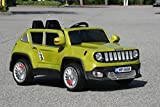 New 2015 Jeep Renegade Style 12v Kids / Boys / Girls Ride on Power Wheels Battery Remote Control Toy Car - Green