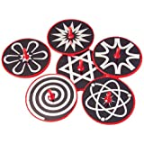 US Toy Hypnotic Lazer Tops Assorted Patterns Toy (1 Dozen)