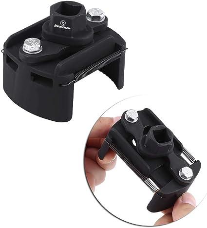 Keenso Universal Einstellbare Ölfilterschlüssel 2 Backen Ölfilter Spanner Remover Werkzeug 60mm 80mm Auto