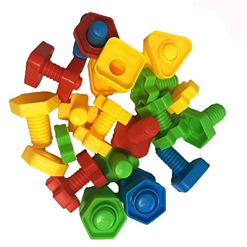 Baby Toddler Kids Gifts Creative Screw Nuts and Bolts Set Toy Colorful Toys for Kid by Lihin
