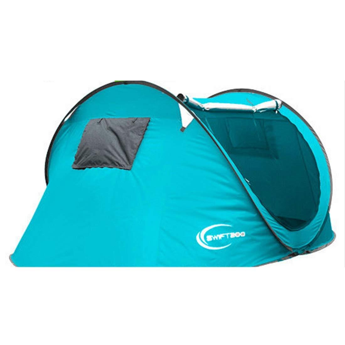 MINGANGSAYONE 4 Personen oder 3 Personen automatische Zelt für Outdoor Camping (blau)
