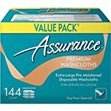 Assurance Premium Washcloths Value Pack 144 Count