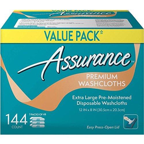 (Assurance Premium Washcloths Value Pack 144 Count)