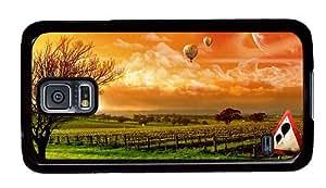 Hipster design Samsung Galaxy S5 Case Balloon Trip Art PC Black for Samsung S5