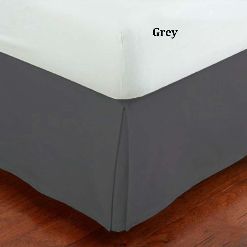 Fancy Collection Twin Size Easy Care Tailored Microfiber 14-inch Bed Skirt Solid Gray