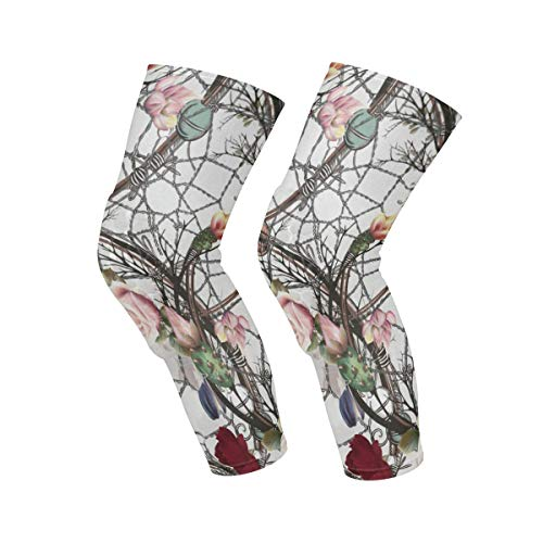 No Soy Como Tu Calcetines Altos Watercolor Floral Design Leisure Crew Top Socks,Tube Over Knee Nursing Compression Long Socks,3D Printed Sports for Girls&Women Calcetines y medias Mujer