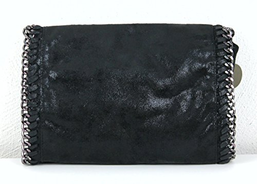 Limited-Colors - Cartera de mano de cuero de imitación para mujer Negro negro small negro