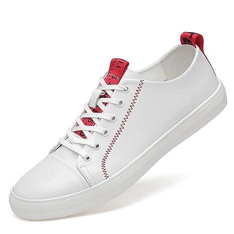 YAN Zapatos de Plataforma para Hombre Zapatos con Cordones de Cuero, Mocasines para Bota de