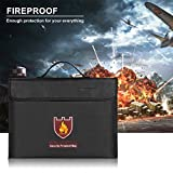 ENGPOW Fireproof Safe Bag, Fire and Water Resistant Money and Important Documents Bag, Non-Itchy Silicone Coated with Shoulder Strap,Zipper,Fire Protective Envelope Pouch for Valuables