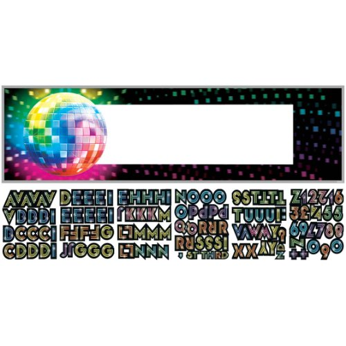 [Amscan Funky 70's Personalize It! Giant Party Sign Banner, 65