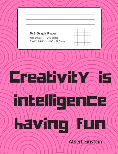 Download Graph 5x5 Composition Notebook: 200 page Back to School 5x5 Graph Notebook Pink Einstein quote design (5x5 Graph Notebooks for Cool Kids) pdf epub