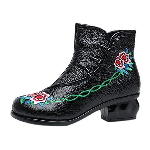 Ankle Boots Women Folk-Custom Boots Medium High Heeled for sale  Delivered anywhere in USA