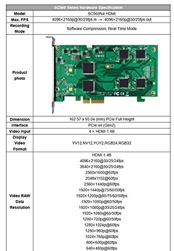 4 Input 4K HDMI Capture Card Yuan SC560N4 HDMI